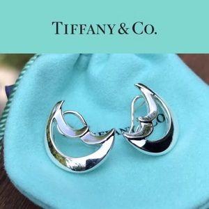 Tiffany&Co Silver Crescent Moon Earrings